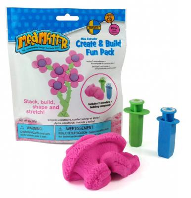 Mad Mattr Play Dough With Dual Extruders 2 Oz, Pink, 220-101