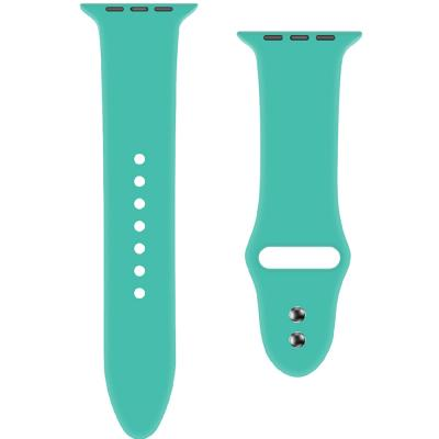 Promate ORYX-38SM Silicone Apple Watch Strap 38mm 40mm, Turquoise