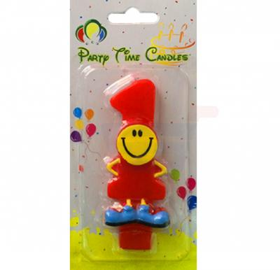 Party Time Smiley Candle 1 M082