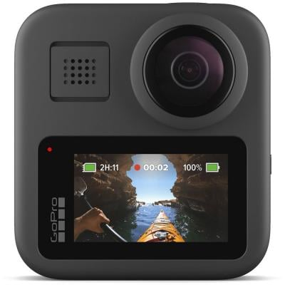 GoPro MAX Waterproof 360 Camera With Touch Screen Spherical 5.6K30 HD Video 16.6MP 360 Photos 1080p Live Streaming Stabilization