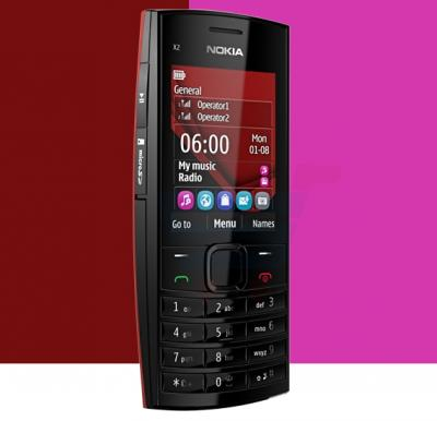 Nokia X2-00 Single SIM Phone, 1.8 Inch Display, FM Radio, Bluetooth, USB - Black