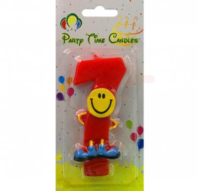 Party Time Smiley Candle 7 M082