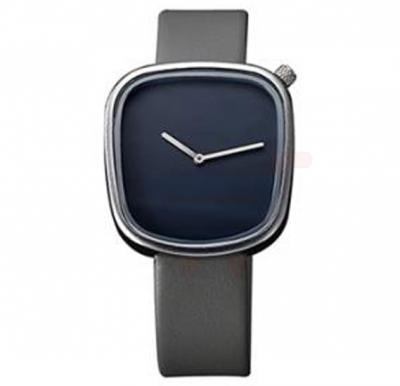 TOMI Unisex Leather Band Wrist Watch T077, Grey