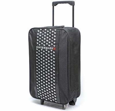 Swiss Mark 22 Inch Travel Trolley Bag, Black