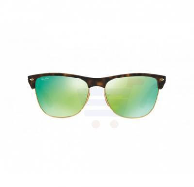 Ray-Ban Wayfarer Matte Havana Frame & Green Mirrored Sunglasses For Unisex - RB4175-609219