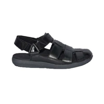 Hush Puppies Mens Sandals Black Leather, Size 7, HM01823-007