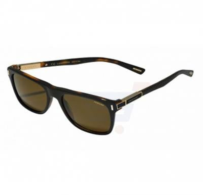 Chopard Rectangle Brown Gradient Frame & Brown Color Mirrored Sunglass For Men - SCH219-G62P