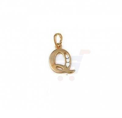Xuping Necklace Pendant Gold Plated Letter  Q