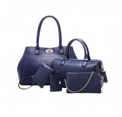Generic Multi-function Tote Bag for Women, Set of 5 Pieces,blue,ES502