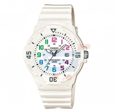 Casio Analog Watch For Women, White Resin Band-LRW-200H-7B