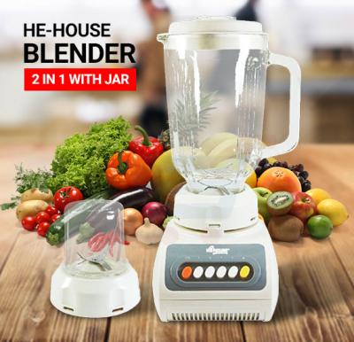He-House Blender 2 In 1 With White Jar HT999