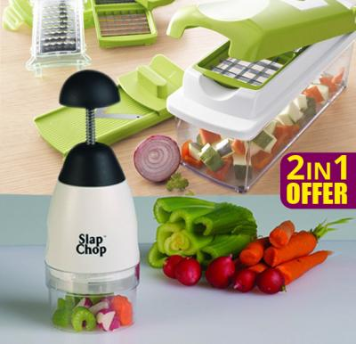 Bundle Offer Multi Functional Nicer Dicer + Perfect Chopper Deluxe