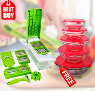 Bundle Offer Nicer Dicer, Glass Bowl Set