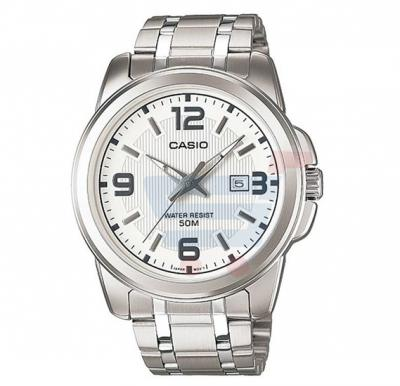 Casio Analog Watch For Men, Silver Stainless Steel Band-MTP-1314D-7A
