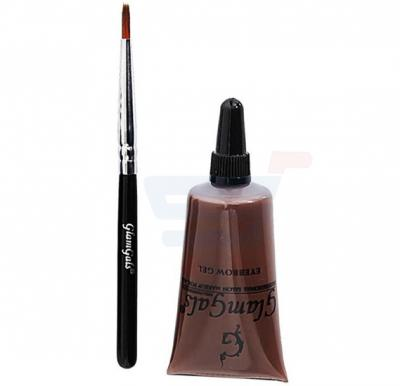 GlamGals Eyebrow Gel and Brush Brown - EK01