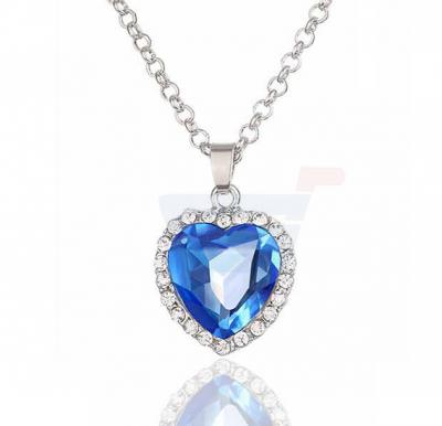 Platinum Plated Titanic Heart Ocean Necklace