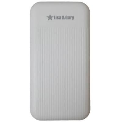 Lisa and Gary Portable Power Bank Dual USB 9000mAh, White