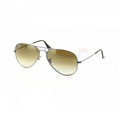 b3d74e84a84 Ray-Ban Aviator Gunmetal Frame   Brown Mirrored Sunglasses For Unisex -  RB3025-004