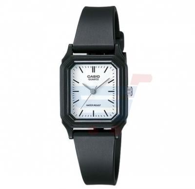 Casio Analog Watch For Women, White Dial Resin Band-LQ-142-7E
