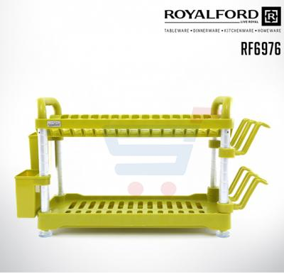 Royalford Fiber 2 Layer Dish Rack - RF6976