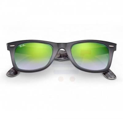 Ray-Ban Wayfarer Black Frame & Green Gradient Flash Mirrored Sunglasses For Unisex - 0RB2140-11994J
