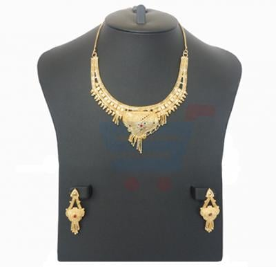 Harsha Arts 22K Gold Plated Necklace Set-HR 1135