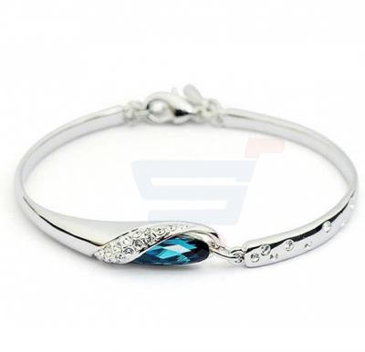 18k White Gold Plated Bracelet with Swarovski Crystals For Women