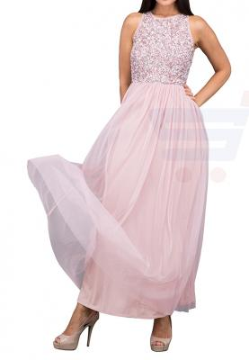 TFNC London Picasso Maxi Evening Dress Pink - LNB 23270 - S