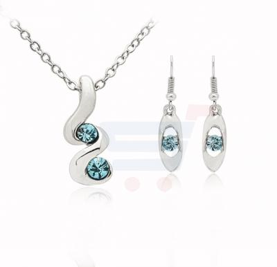 18K White Gold Plated Crystal Jewelry Set - MM268