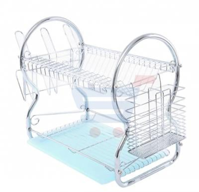 Royalford 2 Layer Metal Dish Rack RF1150DR, Silver Color