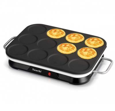 Saachi NLCM-1860 12 Piece Mini Crepe And Pancake Maker - Black
