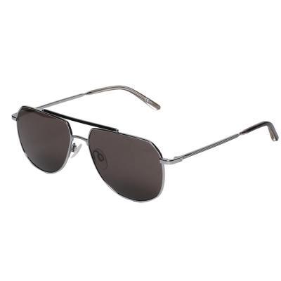 Calvin Klein CK20132S Pilot Silver Sunglasses For Men Brown Lens, Size 57