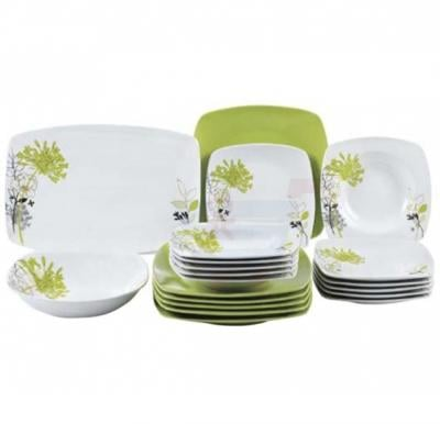 Flamingo Porcelain Square Type Dinner Set 20 PCS - FL7703PDS
