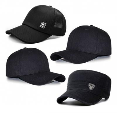 4 in 1 OSP Mens Cap Assorted Color, SMD001 +OSP Mens Cap Black/Grey, SMD010  + OSP Mens Cap Assorted Color, SMD004 + OSP Mens Cap Assorted Color, SMD004