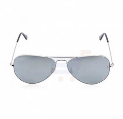Ray-Ban Aviator Silver Frame & Grey Silver Mirrored Sunglasses For Unisex - RB3025-003-59