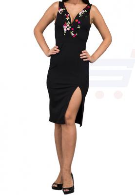 WAL G Italy Padded Midi Casual Dress Black - CH 8011 - L