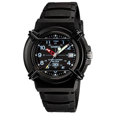 Casio HAD-600B-1BVDF Analog Black Dial Watch for Men