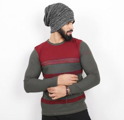 Score Jeans Mens Sweater Full Sleev Red - HF542 - L
