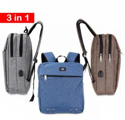 3 in 1 Okko casual Backpack 16 inch  Blue,Grey & Coffee color
