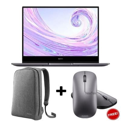 Huawei MateBook D14 Laptop Space Grey, NobelB-WAH9C With Matebook Bag And Mouse For Free