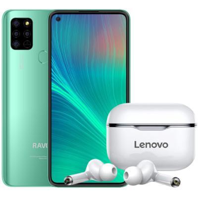 2 In 1 Ravoz Z6 Lite Dual SIM Vivacious Green 4GB RAM 128GB Storage 4G LTE And Lenovo LP1 Live Pod Wireless Bluetooth Earphone