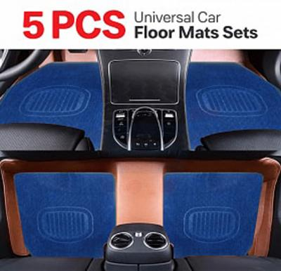 5 Pcs Universal Car Floor Mats Sets Blue, CM1009