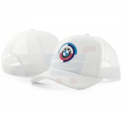 BMW Motor Sport Classic Logo Mesh Cap White, Free Size
