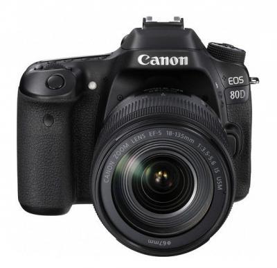 Canon EOS 80D Lens Kit - 24.2 MP, SLR Camera, 18 - 135mm IS USM, Black