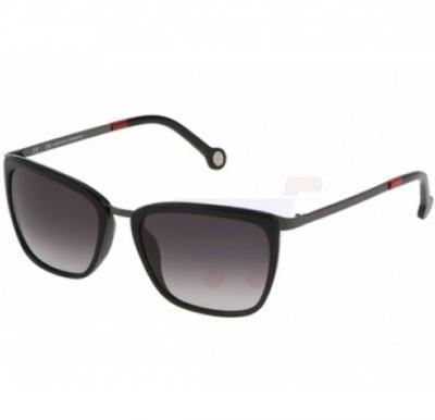 Carolina Herrera Wayfarer Black Frame & Brown Gradient Mirrored Sunglasses For Women - SHE068-0568
