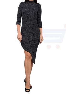 WAL G Italy High Neck Evening Dress Black - MK 1257 - XL
