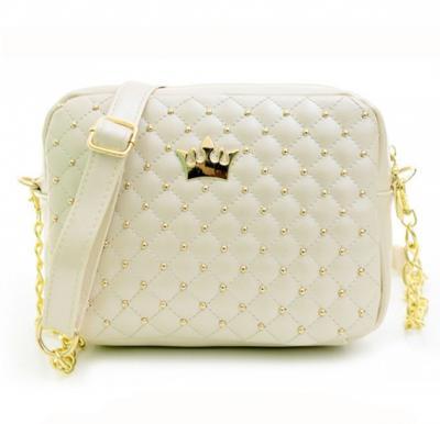 Women Crown Messenger Bag -White