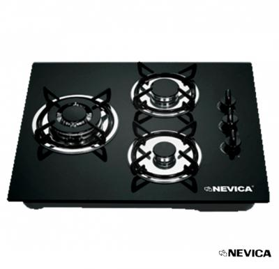 Nevica Gas Hobs With 3 Burners, Glass Top - NV-623GS-G