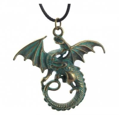 Game of Throne Stainless Steel Dragon Amulet Pendant For Unisex
