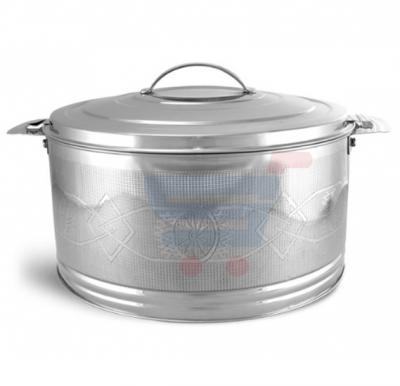 Royalford Stainless Steel Elite Silver line Hot Pot 6Ltr - RF7482
